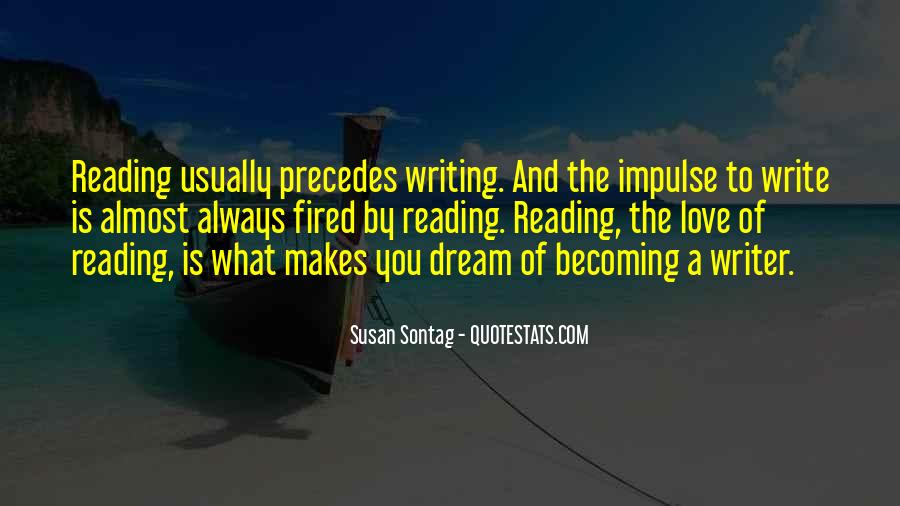 Love Of Reading And Writing Quotes #145726