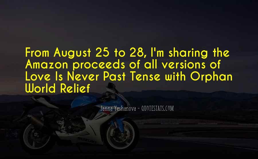 Love Past Tense Quotes #1183794