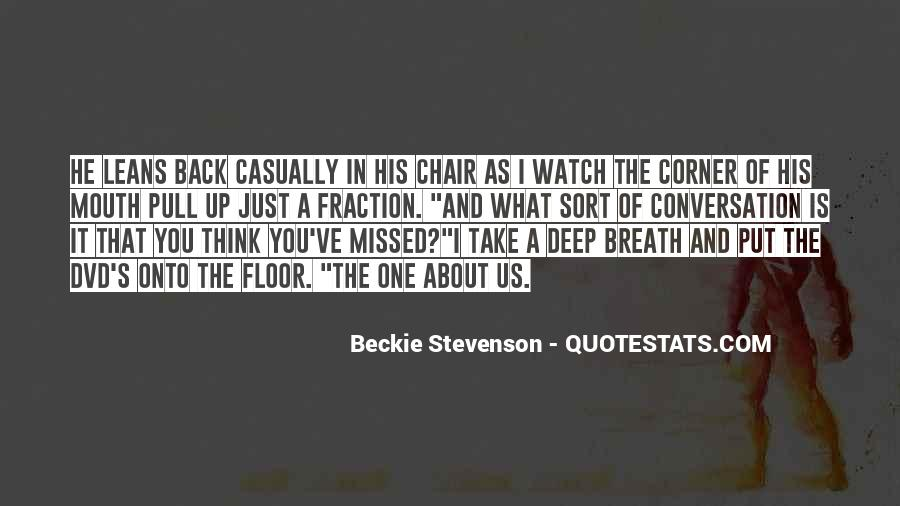 Quotes About Deep Conversation #1637155