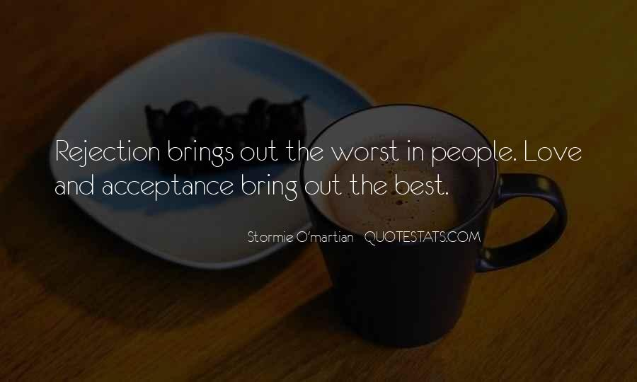 Love Rejection Acceptance Quotes #1296979