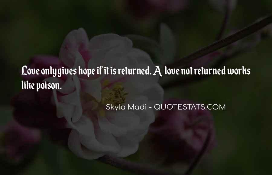Love Returned Quotes #1329412