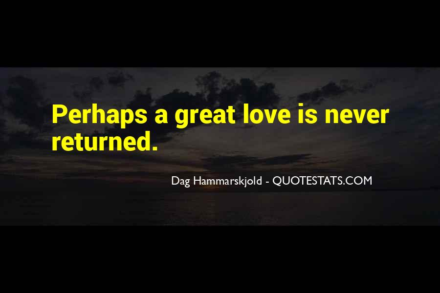 Love Returned Quotes #471973