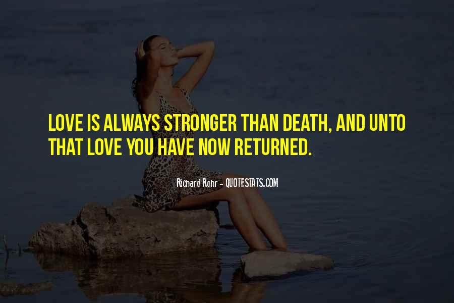Love Returned Quotes #766797