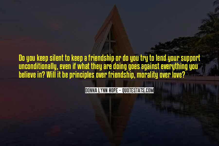 Love Support Friendship Quotes #418647