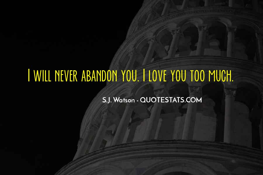 Love With Abandon Quotes #129540