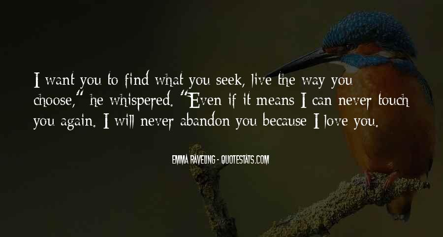 Love With Abandon Quotes #1671897