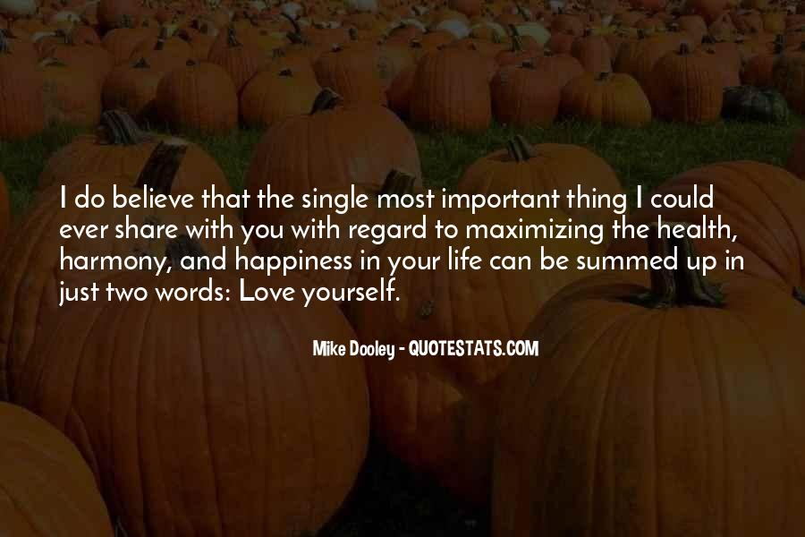 Love Yourself Love Life Quotes #110843