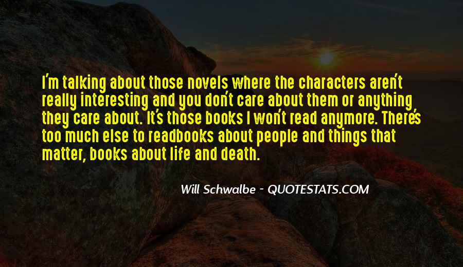 Quotes About Death From Novels #1568621