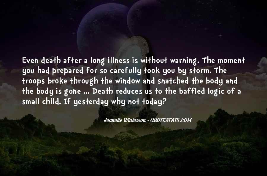 Quotes About Death After Long Illness #1344920