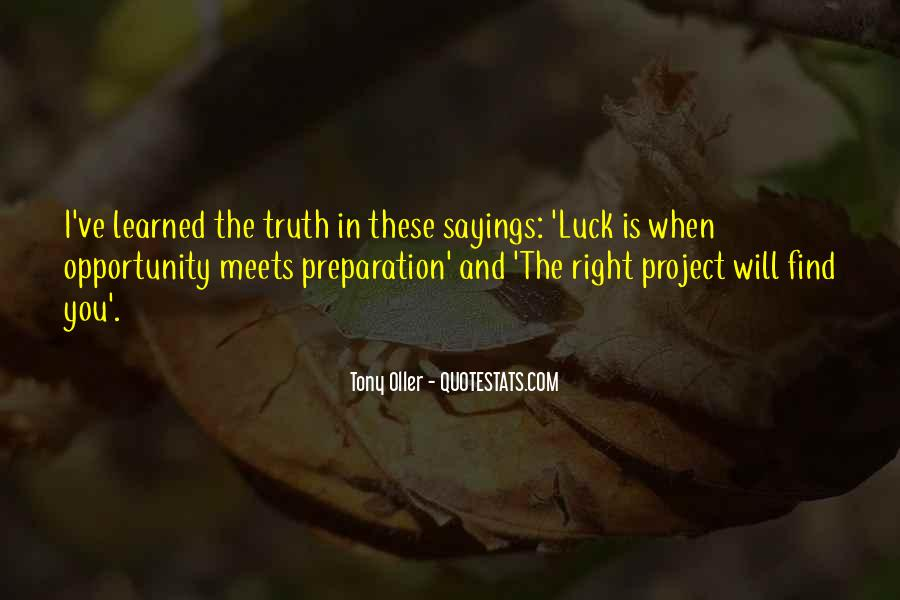 Luck Sayings And Quotes #1553700