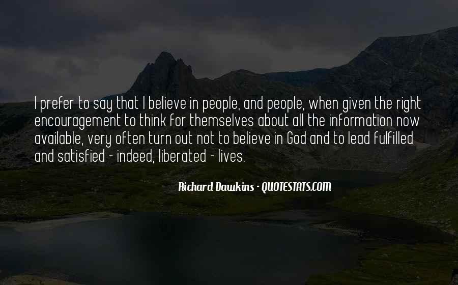 Quotes About Dawkins God #1586882