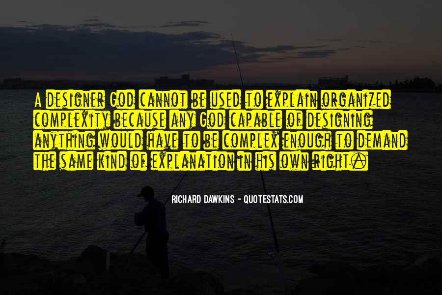 Quotes About Dawkins God #1764683