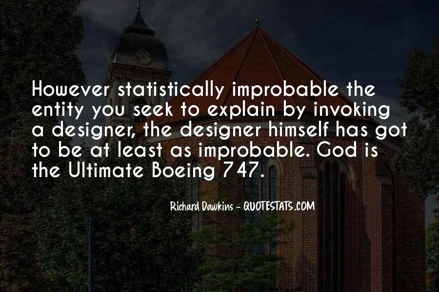 Quotes About Dawkins God #256134