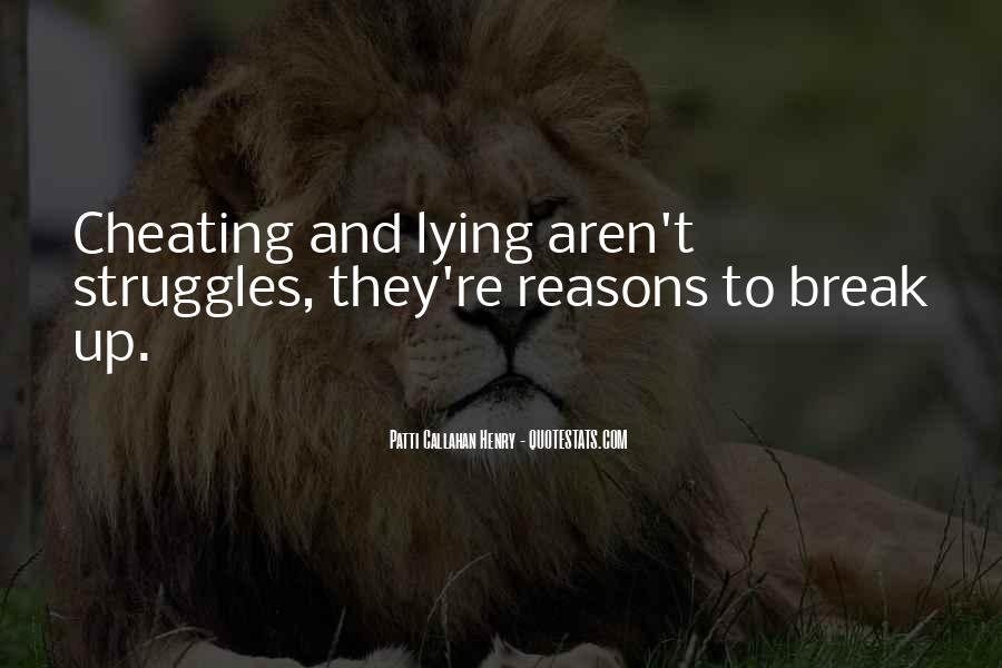 Lying And Cheating In Relationships Quotes #836666