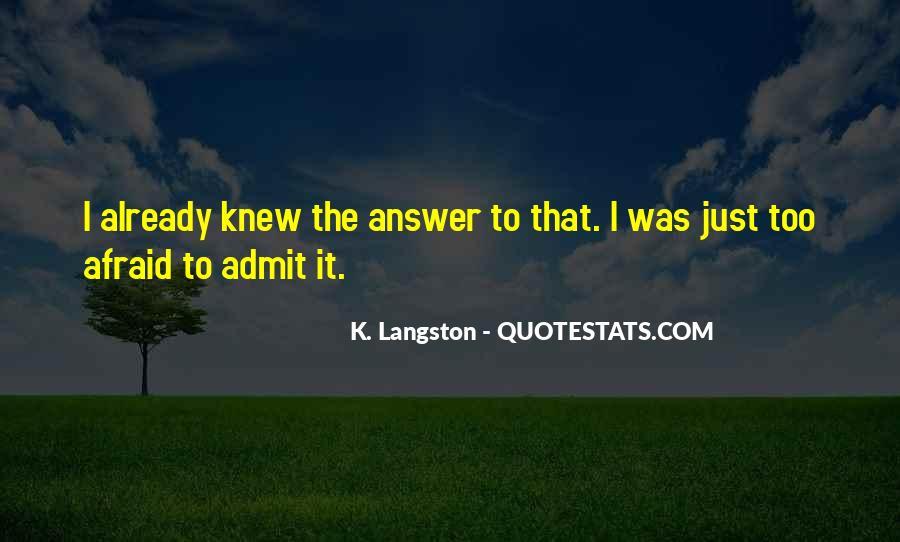 M Langston Quotes #376983