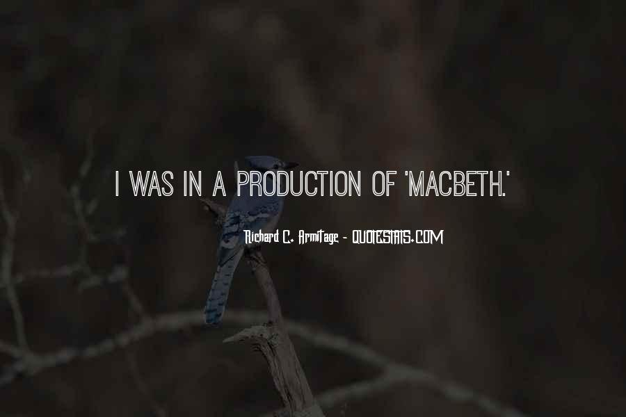 Macbeth's Quotes #124279