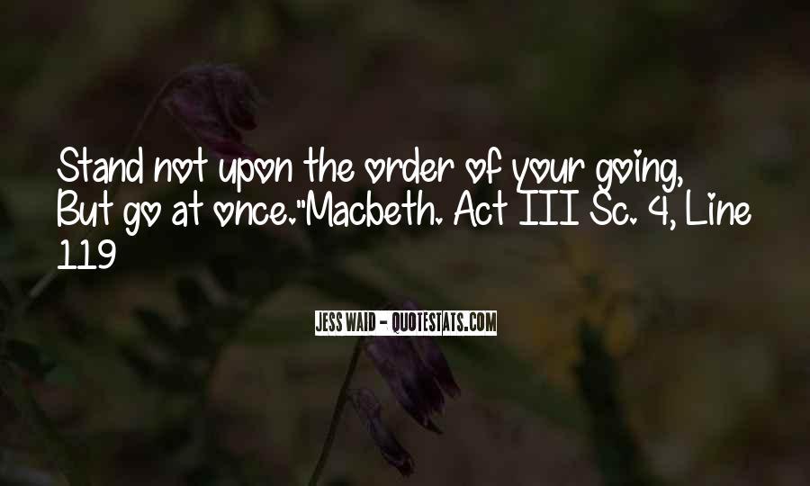 Macbeth's Quotes #291577