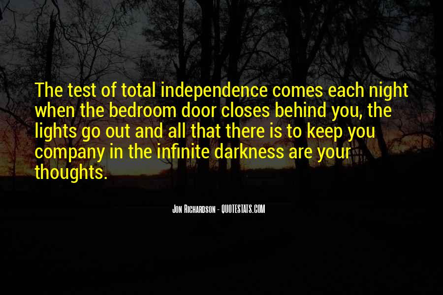 Quotes About Darkness And Night #551206