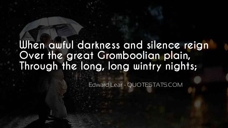 Quotes About Darkness And Night #636881