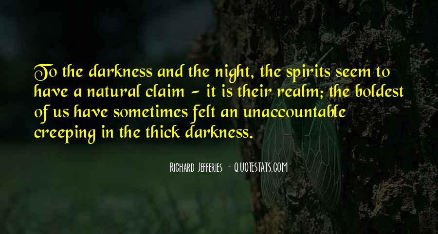 Quotes About Darkness And Night #67982
