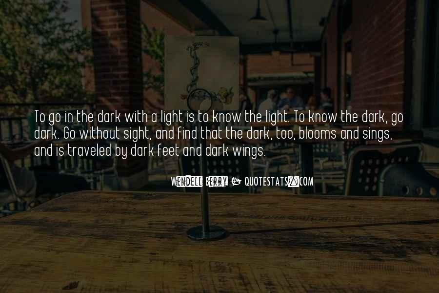 Quotes About Dark Vs Light #3536