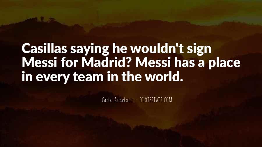 Madrid Team Quotes #109175