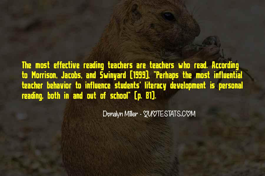 Quotes About Teacher Influence #306602
