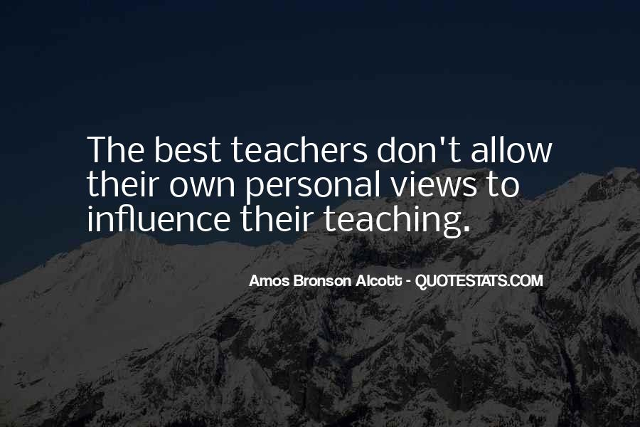 Quotes About Teacher Influence #712135