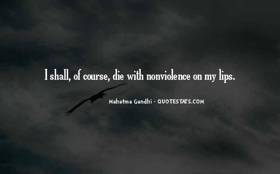 Mahatma Gandhi Nonviolence Quotes #131205
