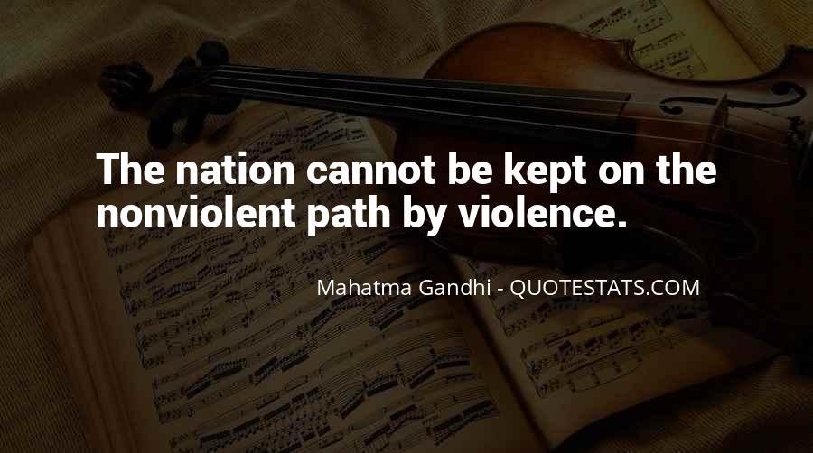 Mahatma Gandhi Nonviolence Quotes #239949