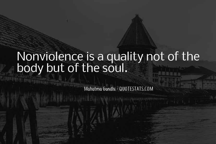 Mahatma Gandhi Nonviolence Quotes #249275