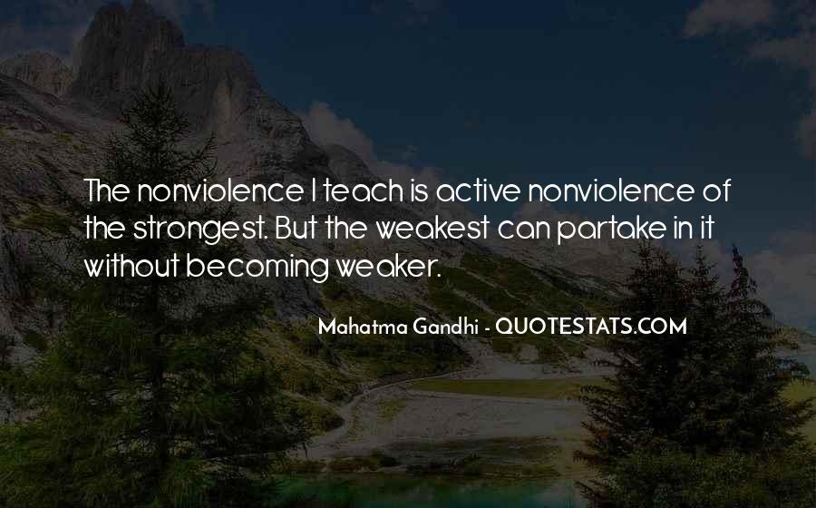 Mahatma Gandhi Nonviolence Quotes #260109