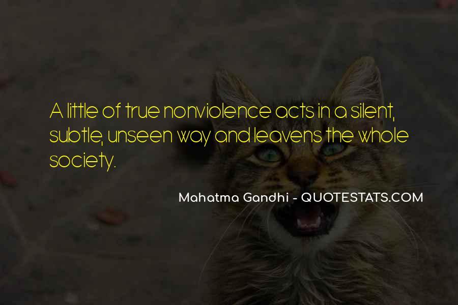 Mahatma Gandhi Nonviolence Quotes #384450