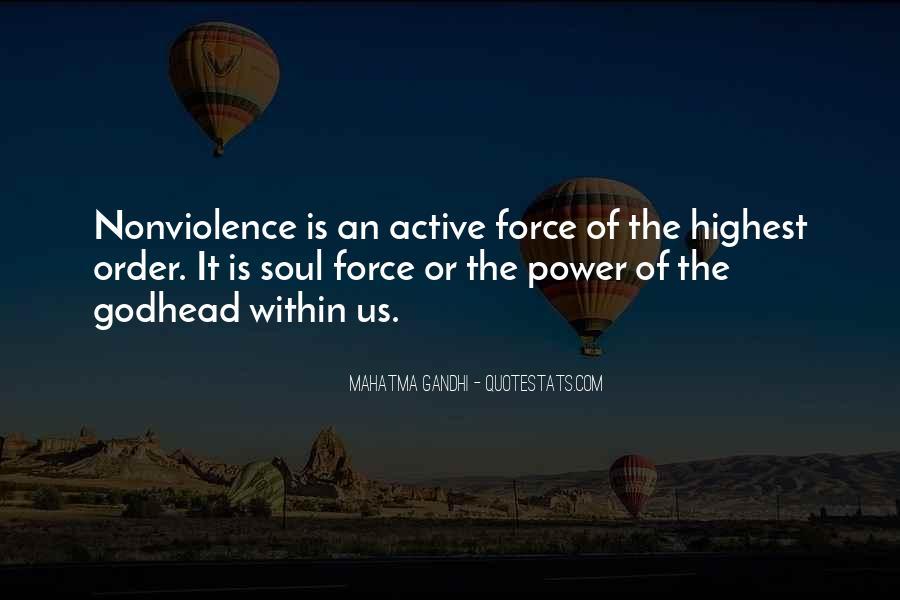 Mahatma Gandhi Nonviolence Quotes #49173