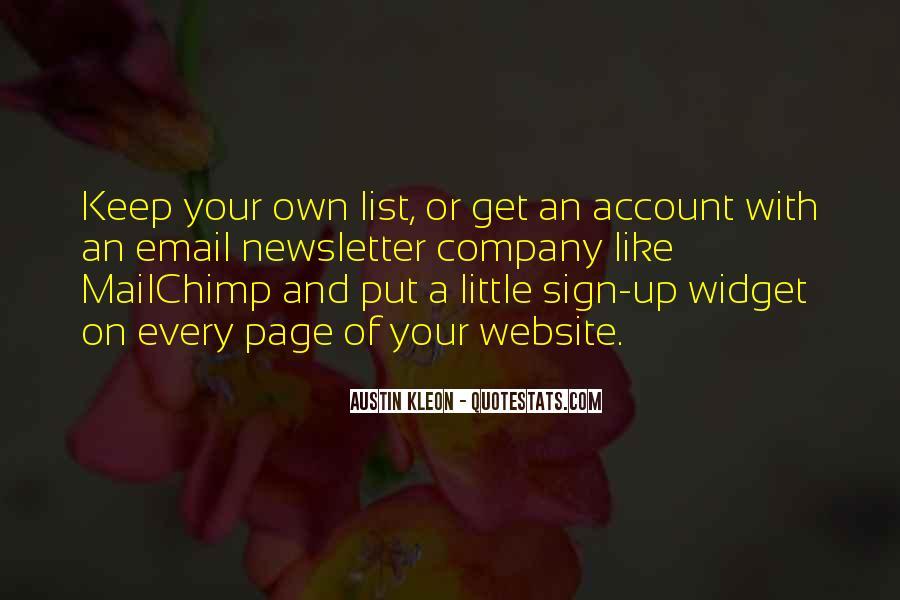 Mailchimp Quotes #1340477