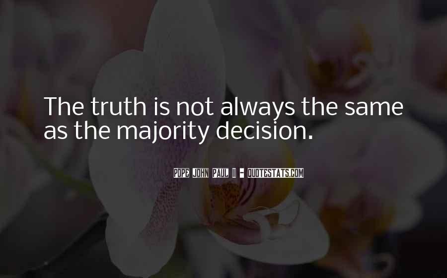 Majority Decision Quotes #1059521