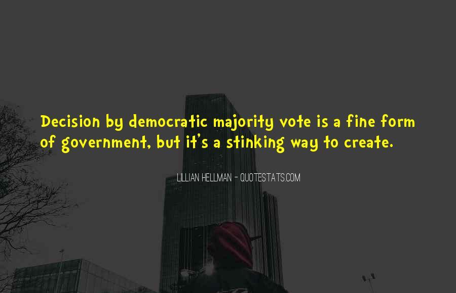 Majority Decision Quotes #1376622
