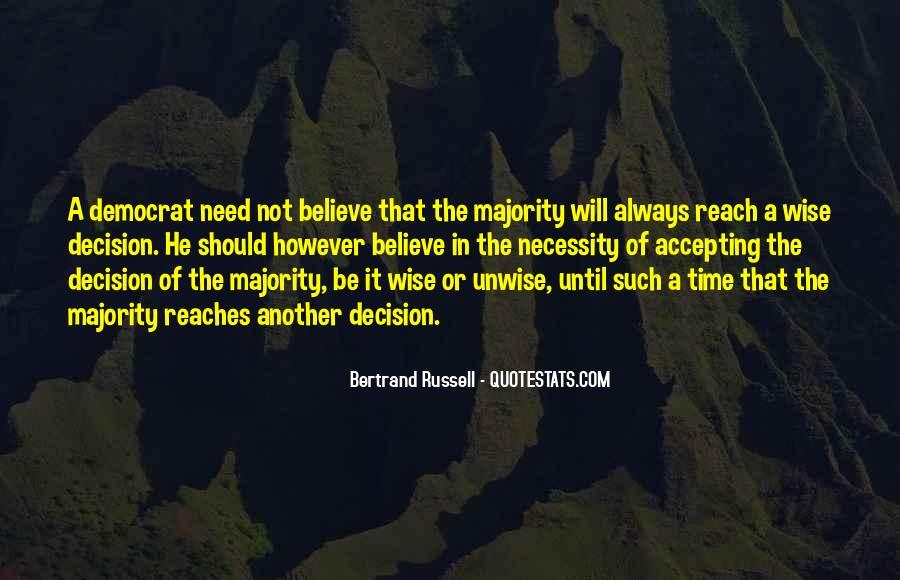 Majority Decision Quotes #1571860