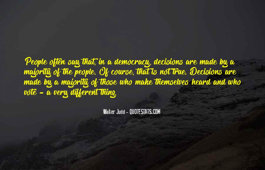 Majority Decision Quotes #503938