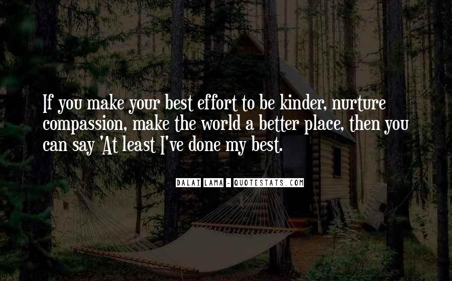 Make The Effort Quotes #38951