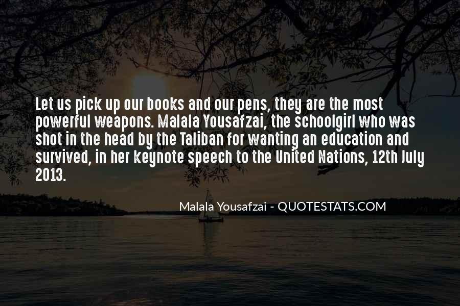 Malala Taliban Quotes #83578