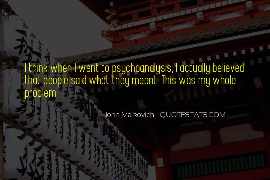 Malkovich Quotes #827584