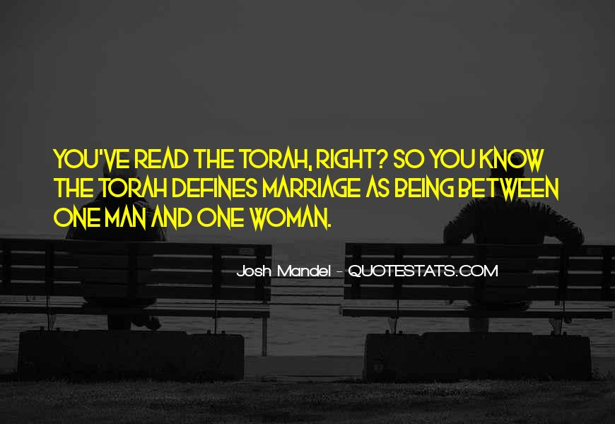 Man And Woman Marriage Quotes #425696