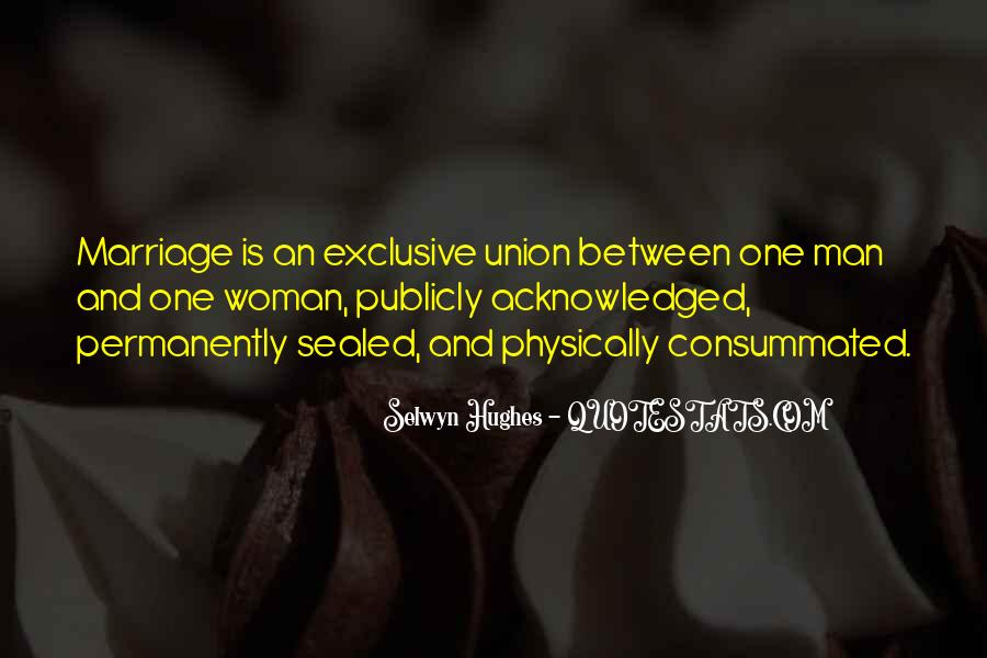Man And Woman Marriage Quotes #429498