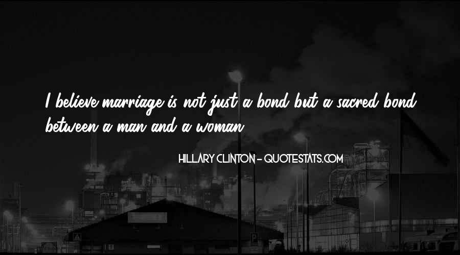 Man And Woman Marriage Quotes #449671