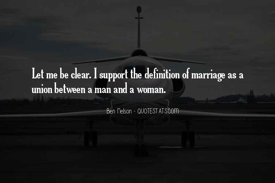 Man And Woman Marriage Quotes #498905