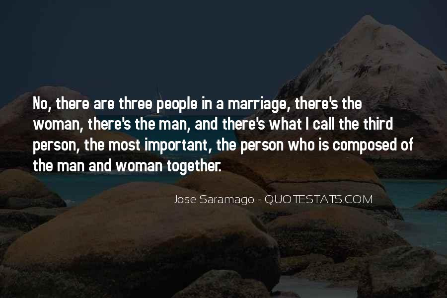 Man And Woman Marriage Quotes #502523
