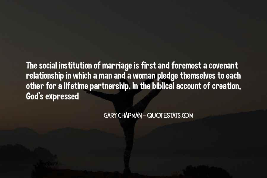 Man And Woman Marriage Quotes #532259