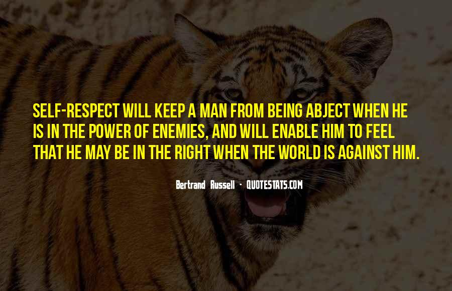 Man Of Respect Quotes #48014