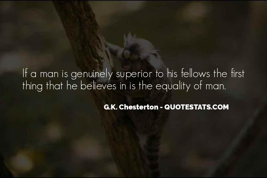 Man Superior Quotes #127049